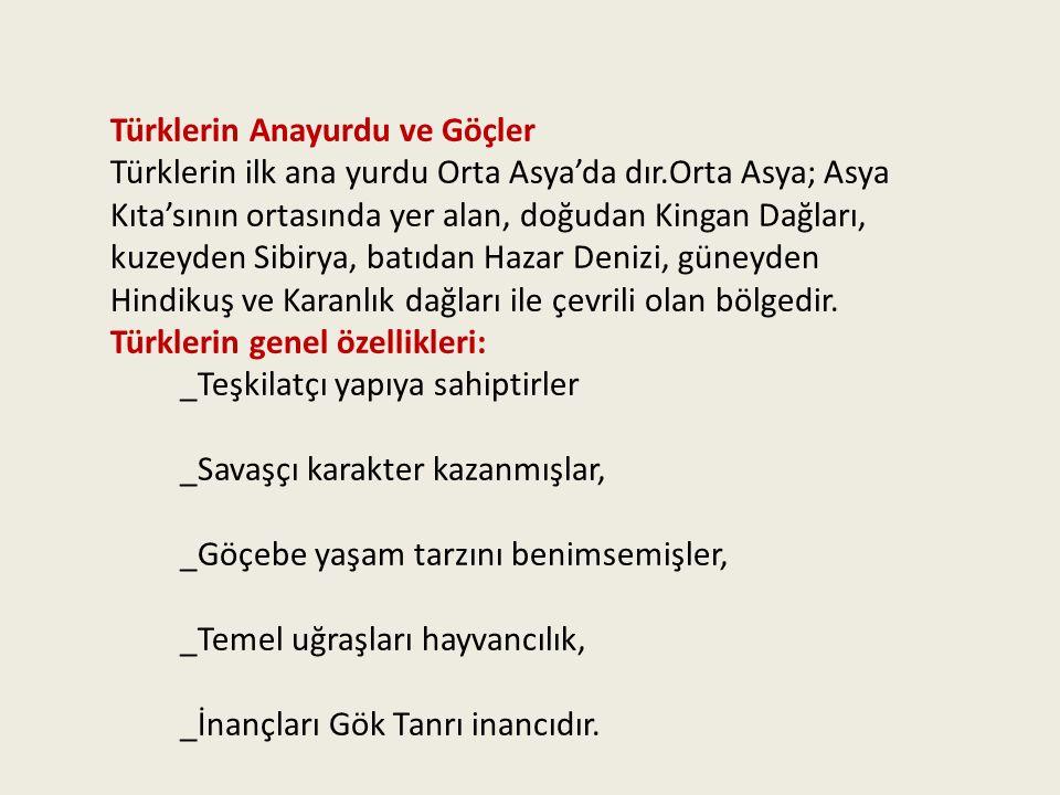 Türklerin Anayurdu ve Göçler