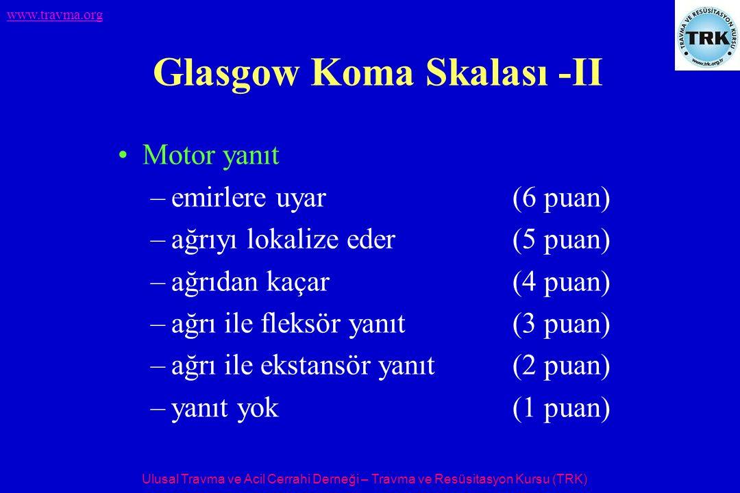 Glasgow Koma Skalası -II