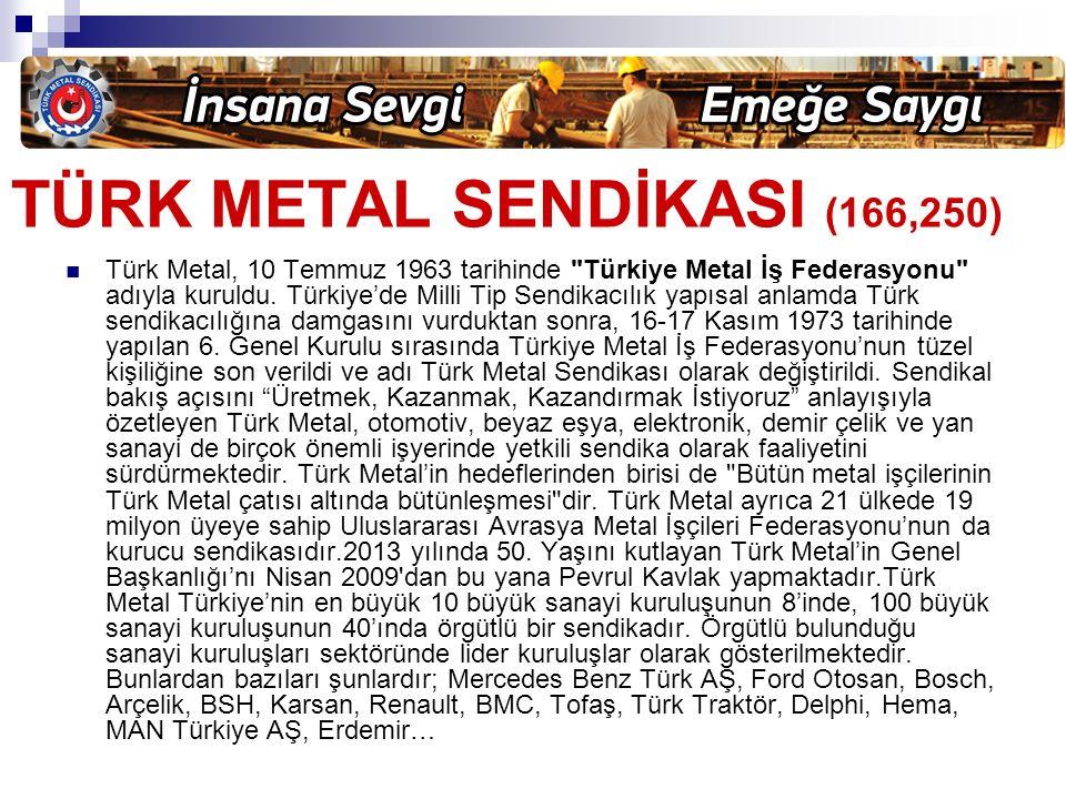 TÜRK METAL SENDİKASI (166,250)