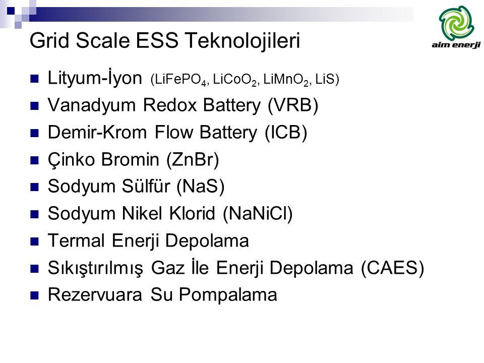 Grid Scale ESS Teknolojileri