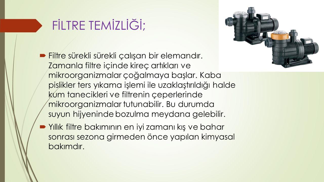 FİLTRE TEMİZLİĞİ;