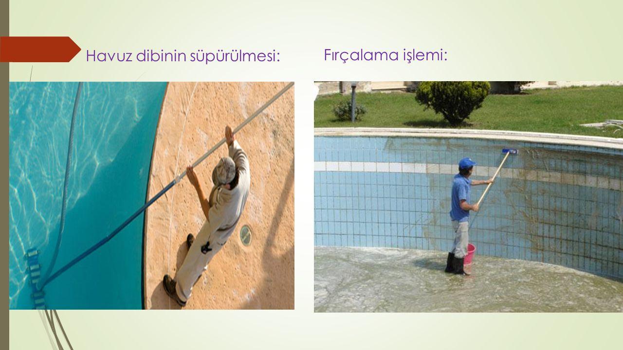 Havuz dibinin süpürülmesi: