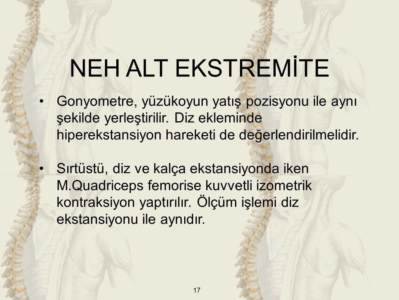 NEH ALT EKSTREMİTE