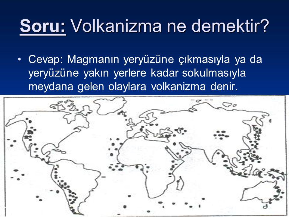 Soru: Volkanizma ne demektir