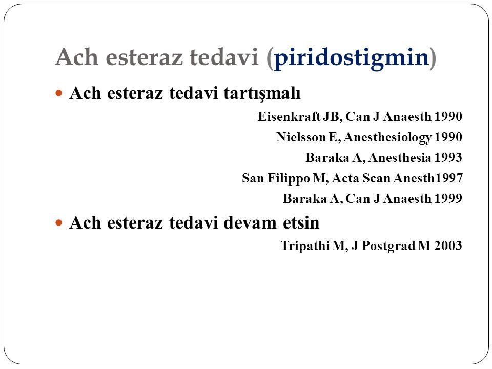 Ach esteraz tedavi (piridostigmin)