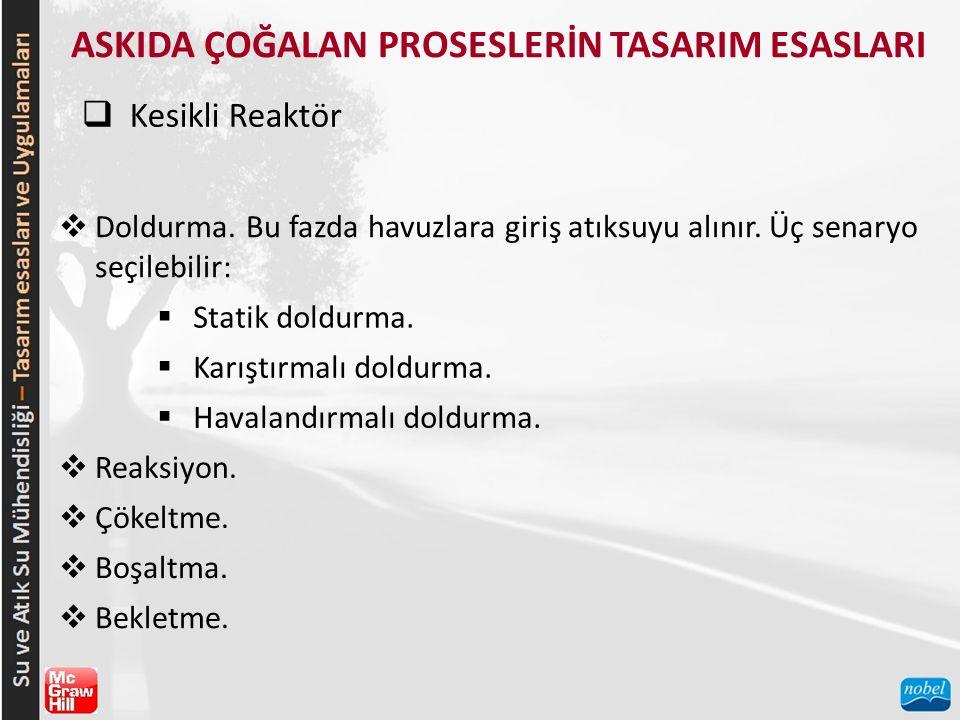 ASKIDA ÇOĞALAN PROSESLERİN TASARIM ESASLARI