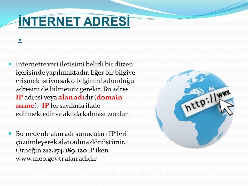 İNTERNET ADRESİ .