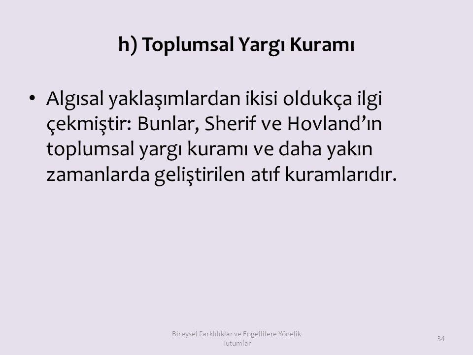 h) Toplumsal Yargı Kuramı