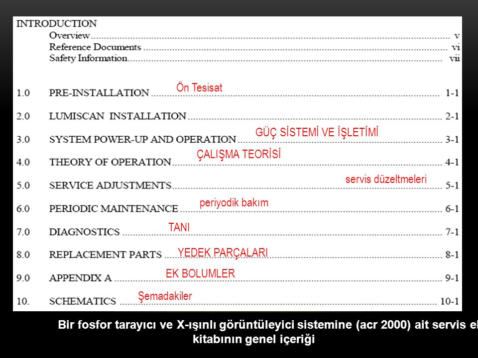 Ön Tesisat GÜÇ SİSTEMİ VE İŞLETİMİ. ÇALIŞMA TEORİSİ. servis düzeltmeleri. periyodik bakım. TANI.