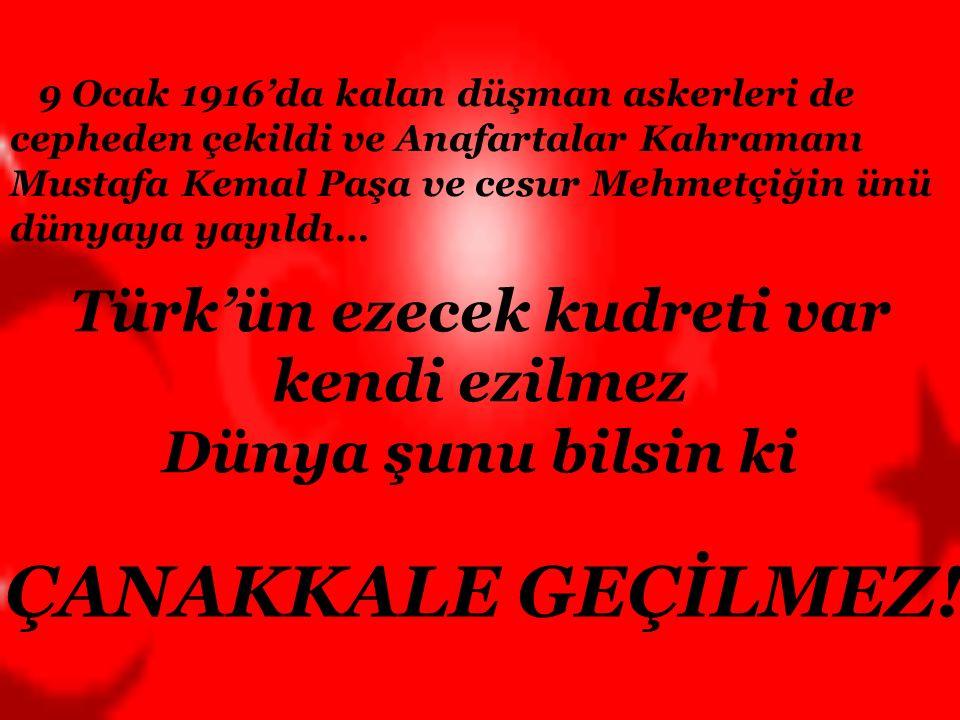 Türk'ün ezecek kudreti var kendi ezilmez
