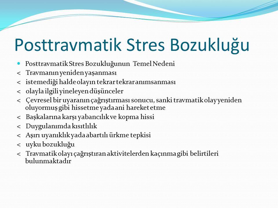 Posttravmatik Stres Bozukluğu