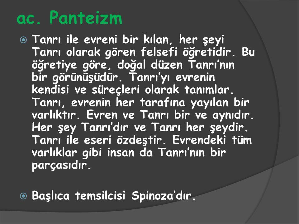 ac. Panteizm