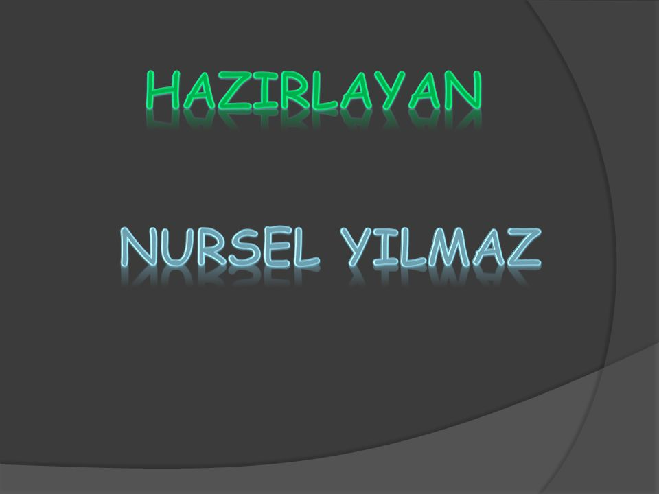 HAZIRLAYAN NURSEL YILMAZ NURSEL YILMAZ