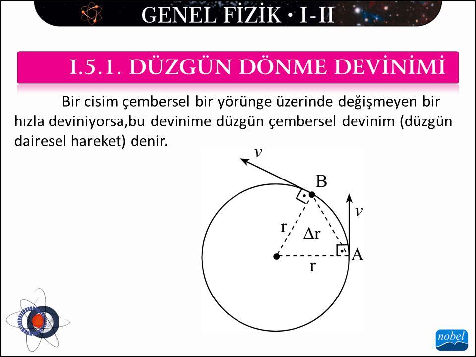 Bir cisim çembersel bir yörünge üzerinde değişmeyen bir hızla deviniyorsa,bu devinime düzgün çembersel devinim (düzgün dairesel hareket) denir.