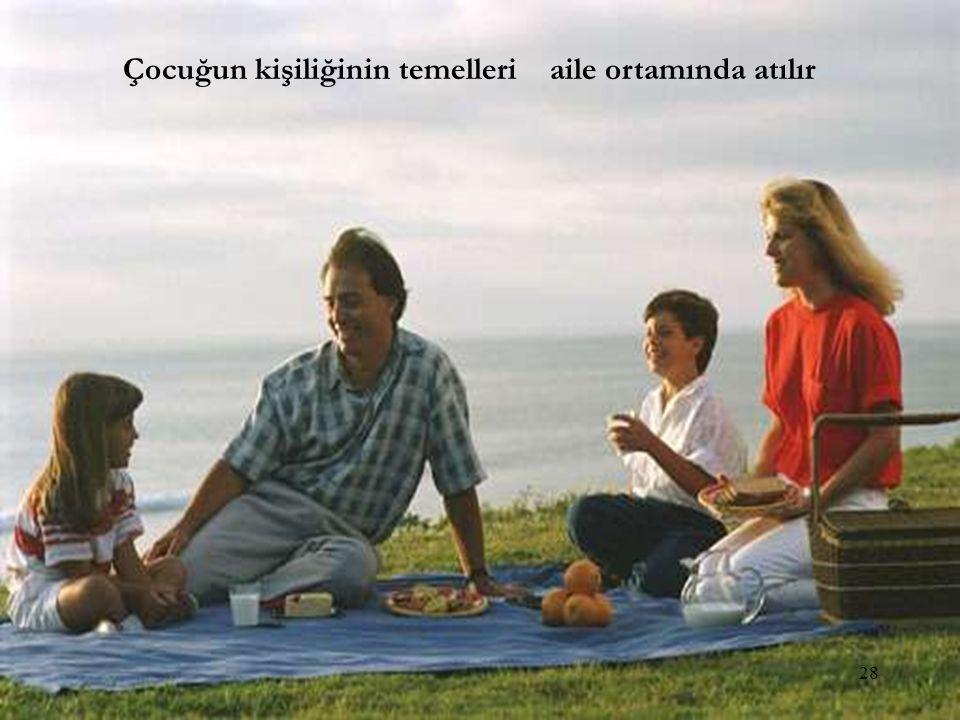 Çocuğun kişiliğinin temelleri aile ortamında atılır