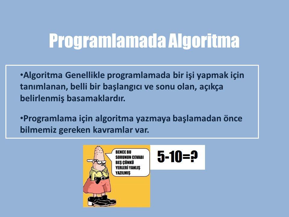 Programlamada Algoritma