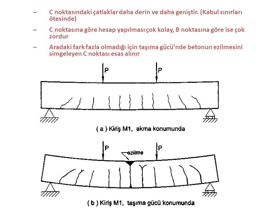 C noktasındaki çatlaklar daha derin ve daha geniştir