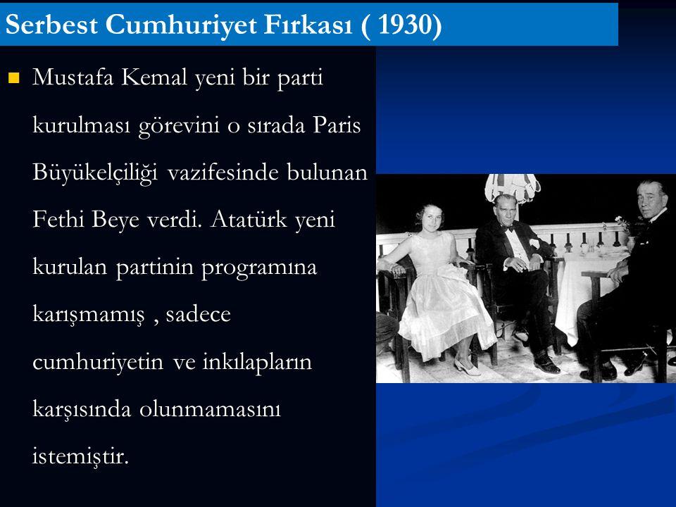 Serbest Cumhuriyet Fırkası ( 1930)