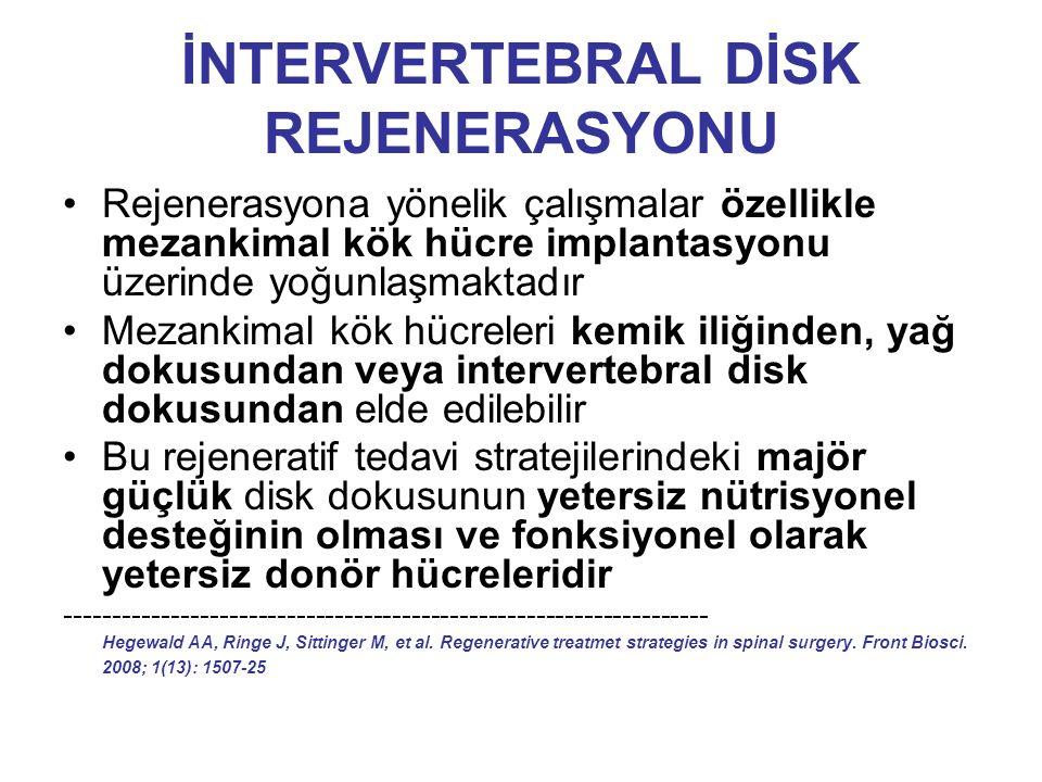 İNTERVERTEBRAL DİSK REJENERASYONU