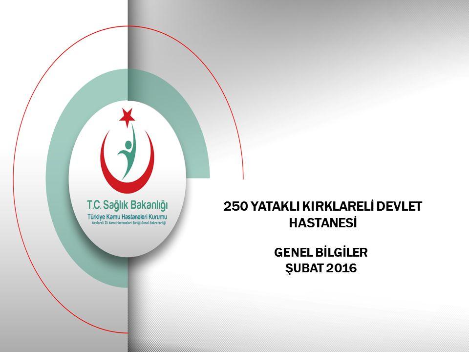 250 YATAKLI KIRKLARELİ DEVLET HASTANESİ