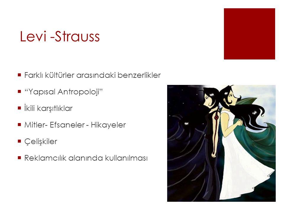 Levi -Strauss Farklı kültürler arasındaki benzerlikler