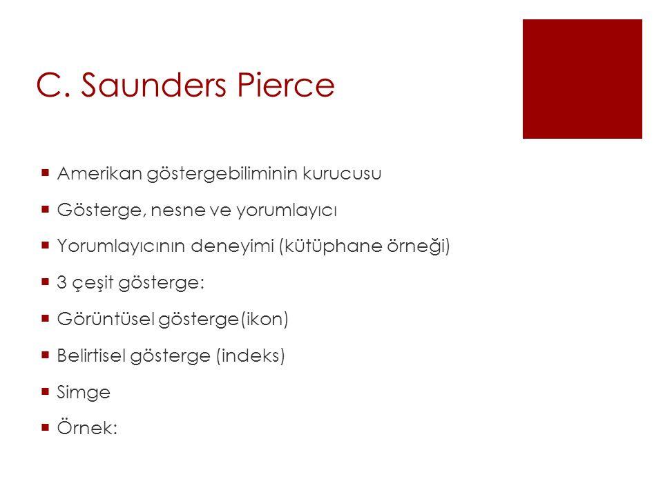 C. Saunders Pierce Amerikan göstergebiliminin kurucusu