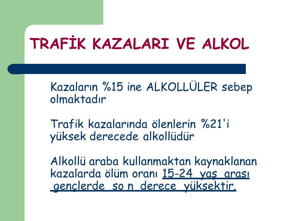 TRAFİK KAZALARI VE ALKOL