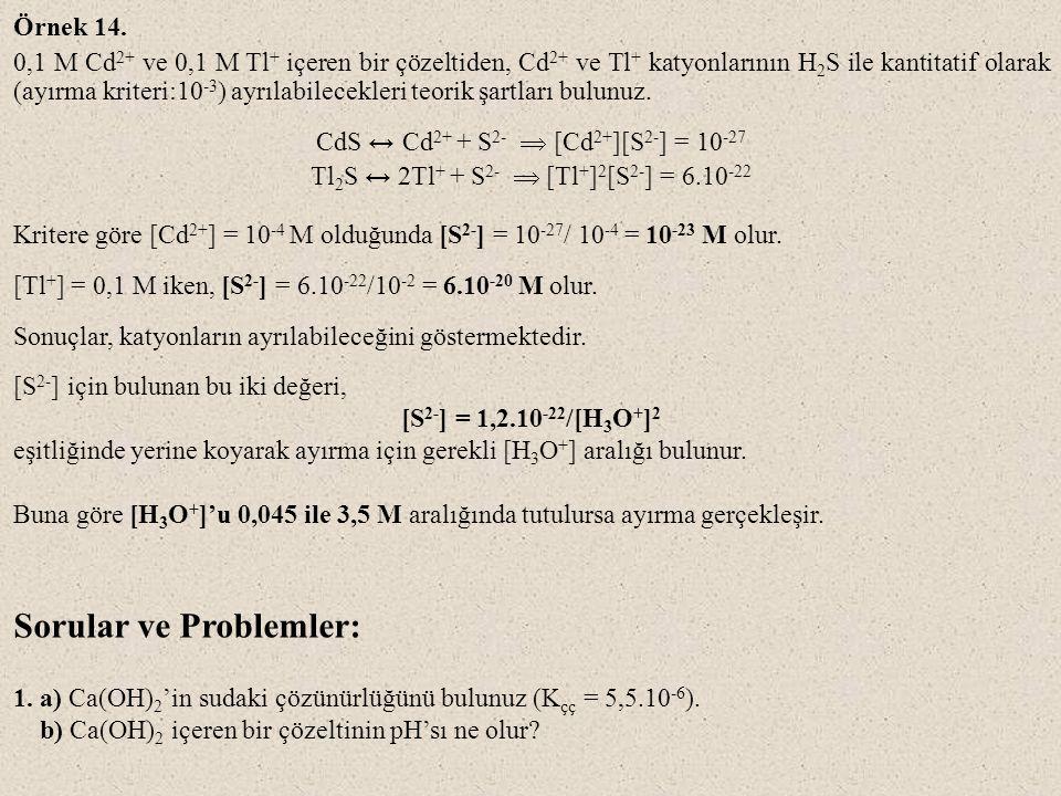 Sorular ve Problemler: