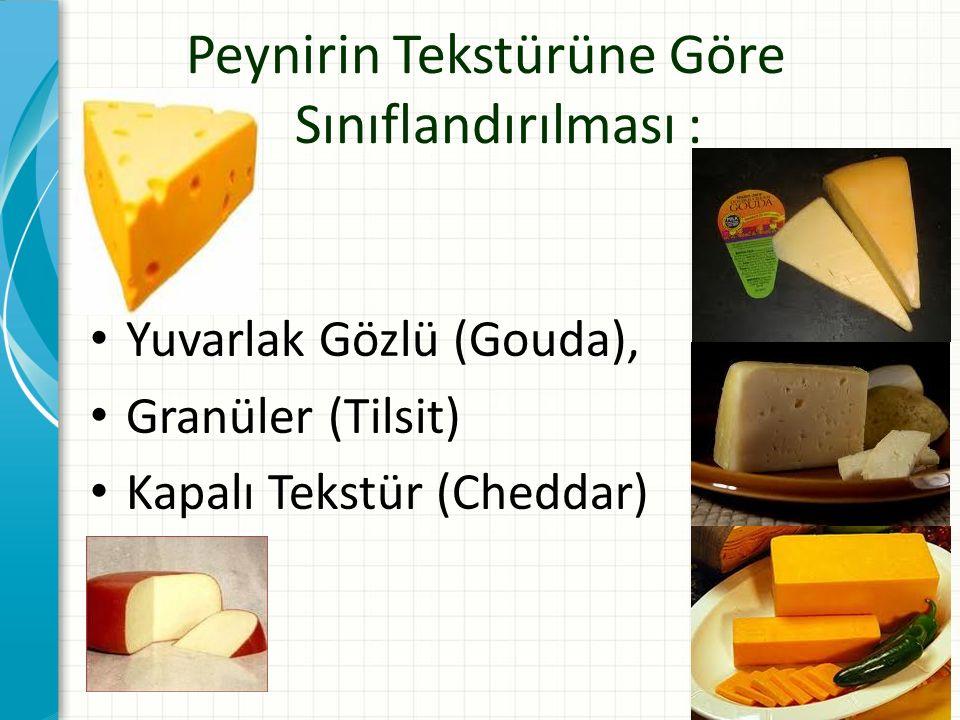 Peynirin Tekstürüne Göre Sınıflandırılması :