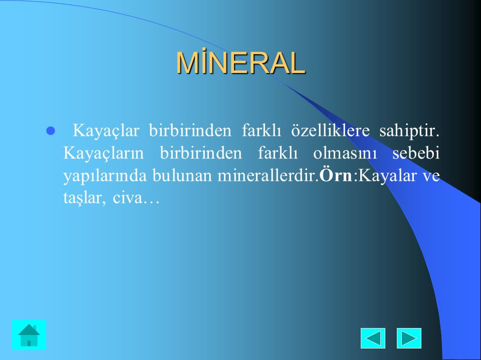 MİNERAL