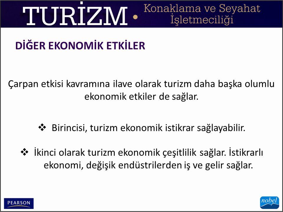 Birincisi, turizm ekonomik istikrar sağlayabilir.