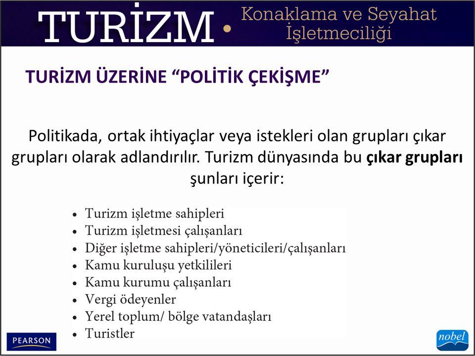 TURİZM ÜZERİNE POLİTİK ÇEKİŞME