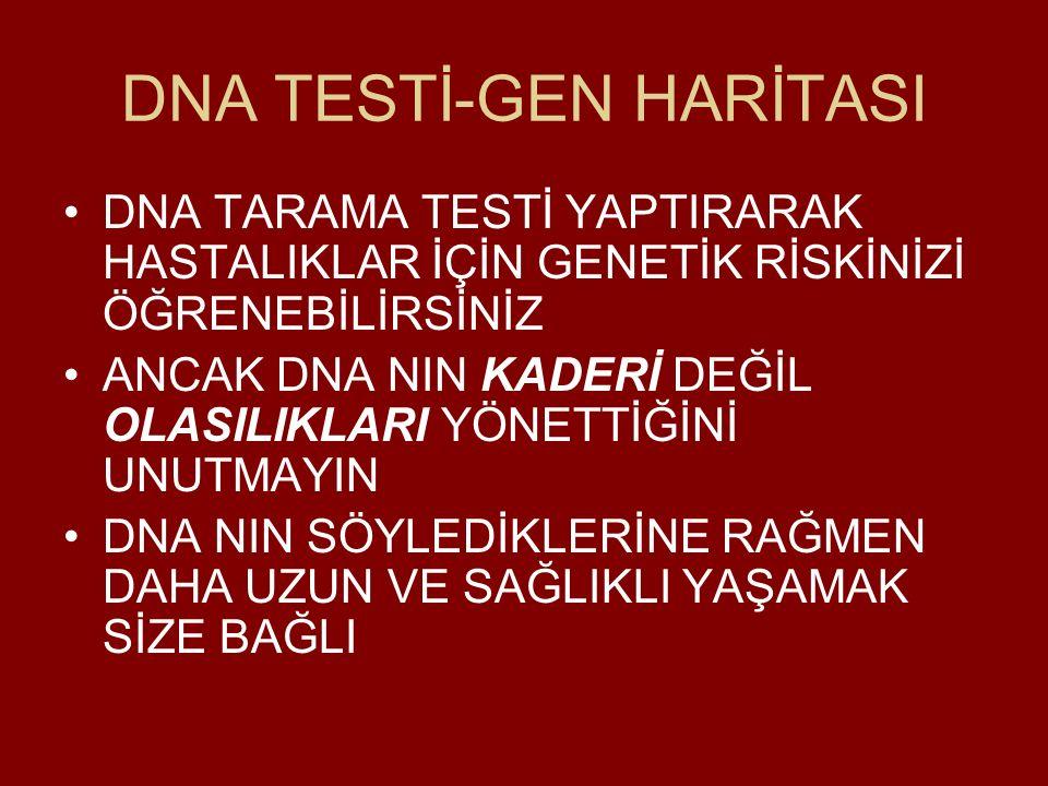 DNA TESTİ-GEN HARİTASI
