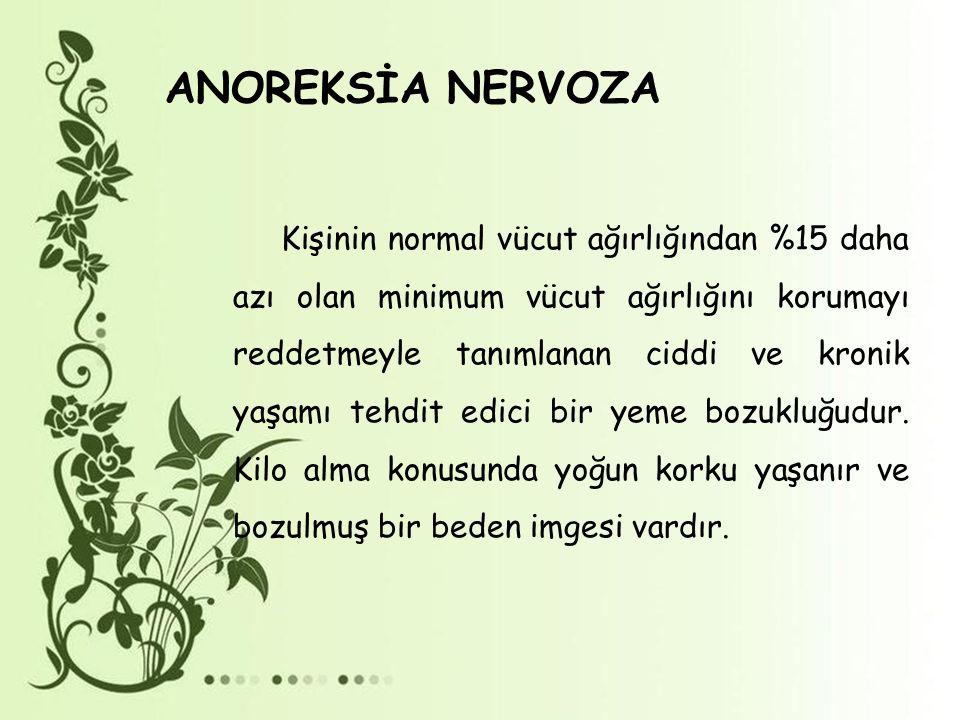 ANOREKSİA NERVOZA