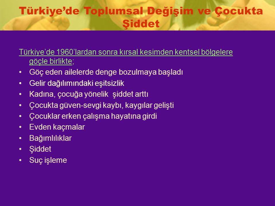 Türkiye'de Toplumsal Değişim ve Çocukta Şiddet
