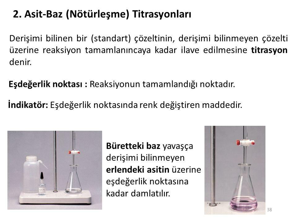 2. Asit-Baz (Nötürleşme) Titrasyonları