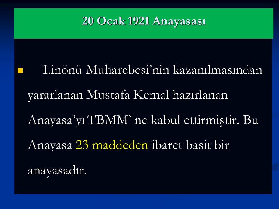 20 Ocak 1921 Anayasası