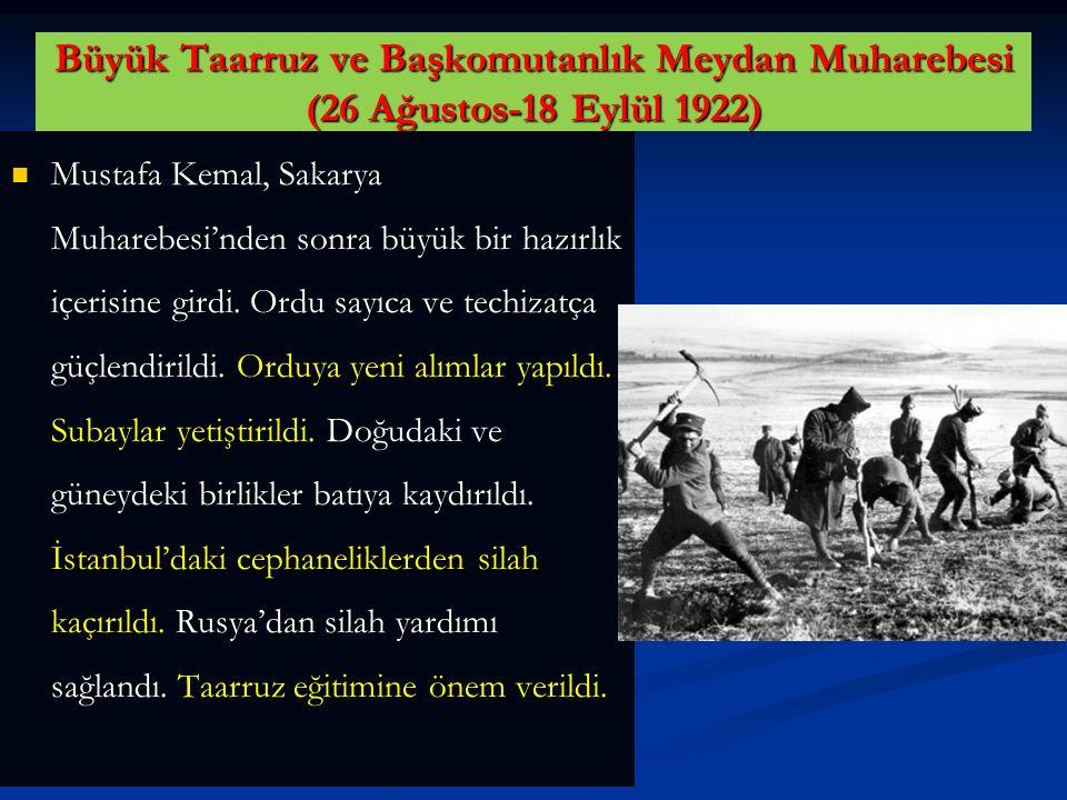 Büyük Taarruz ve Başkomutanlık Meydan Muharebesi (26 Ağustos-18 Eylül 1922)
