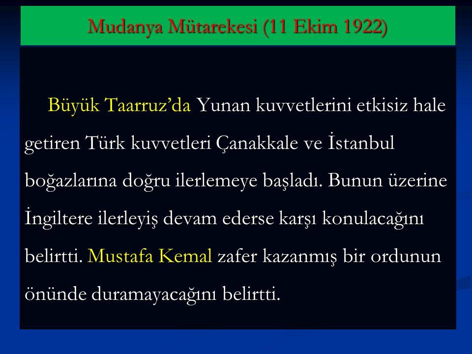 Mudanya Mütarekesi (11 Ekim 1922)