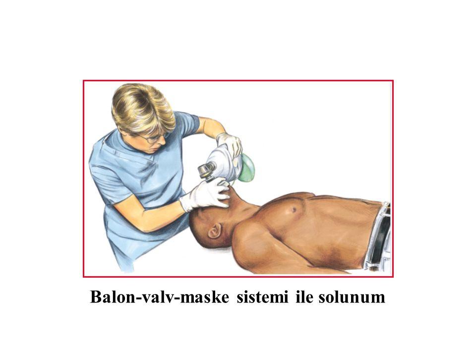 Balon-valv-maske sistemi ile solunum