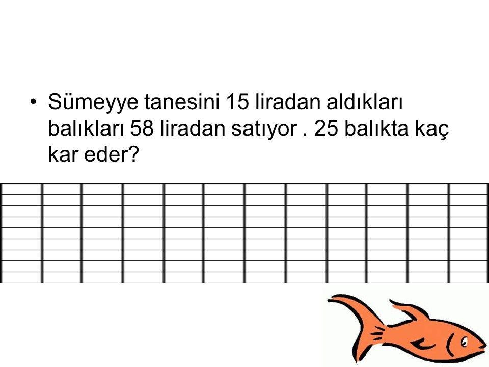 Sümeyye tanesini 15 liradan aldıkları balıkları 58 liradan satıyor