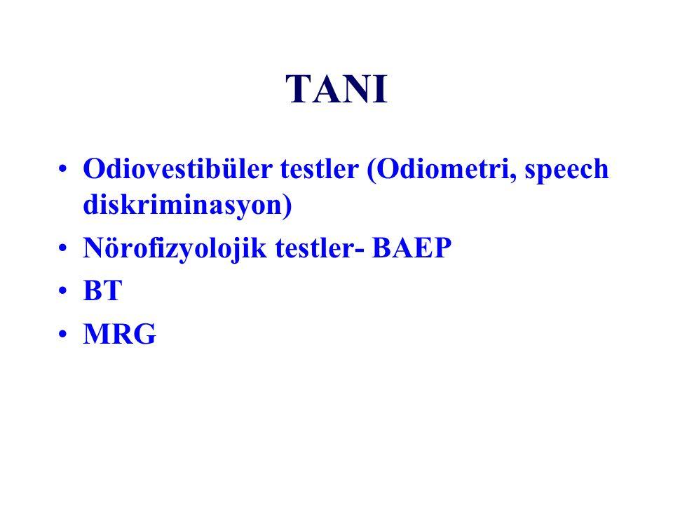 TANI Odiovestibüler testler (Odiometri, speech diskriminasyon)