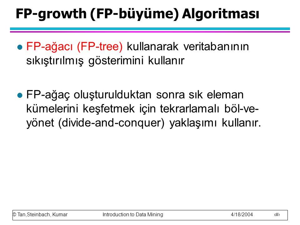 FP-growth (FP-büyüme) Algoritması