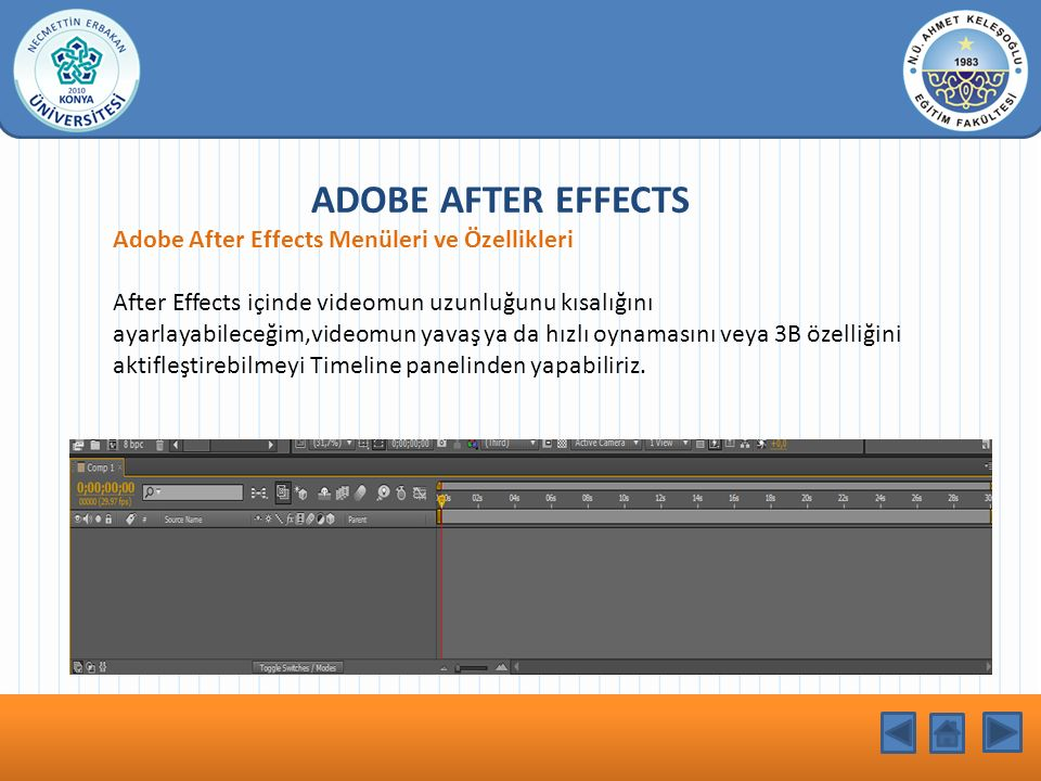 KONU BAŞLIĞI ADOBE AFTER EFFECTS