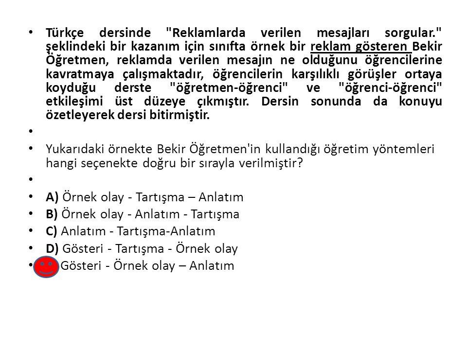 Türkçe dersinde Reklamlarda verilen mesajları sorgular