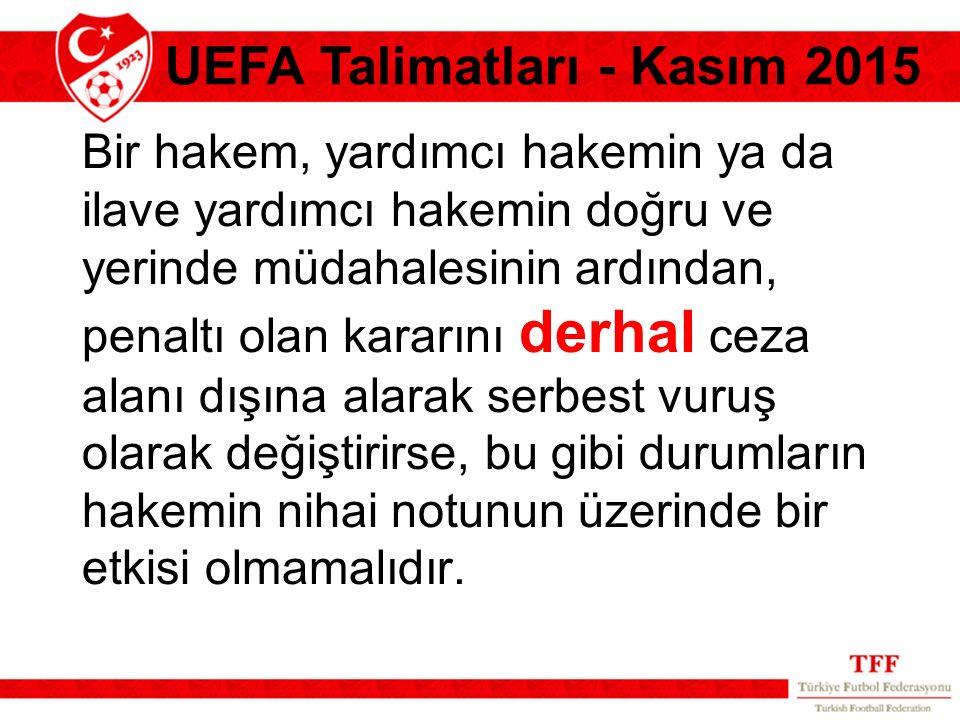 UEFA Talimatları - Kasım 2015