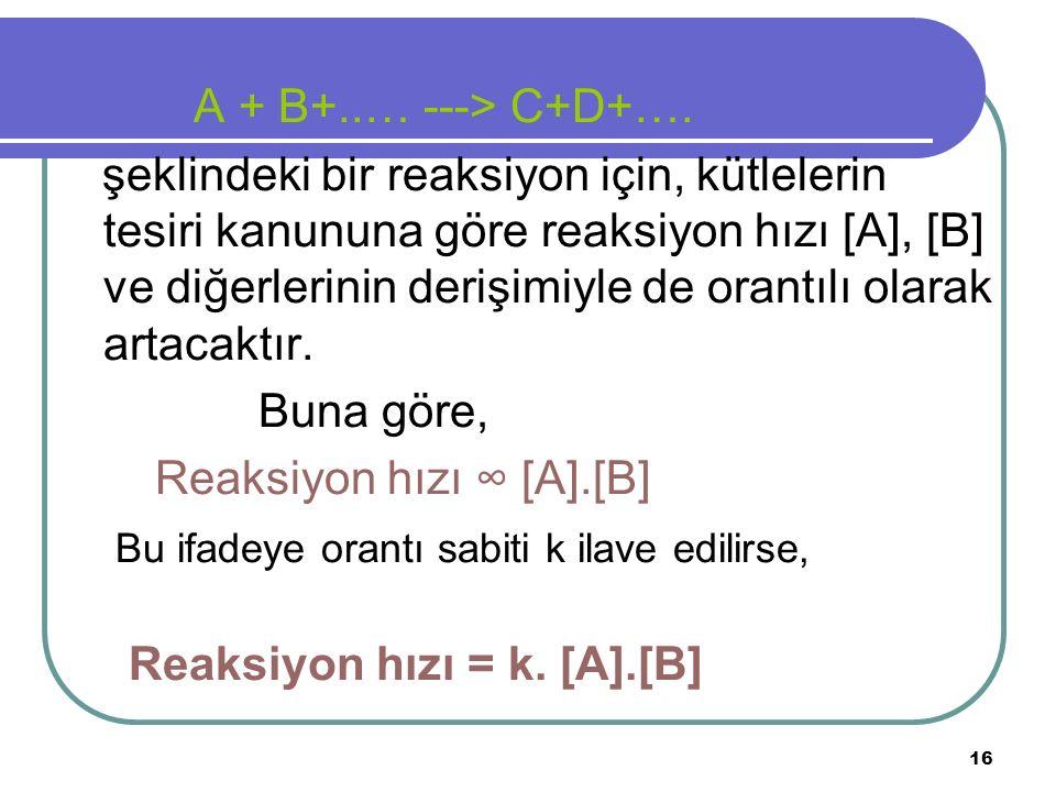 A + B+..… ---> C+D+….
