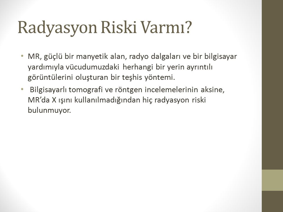 Radyasyon Riski Varmı