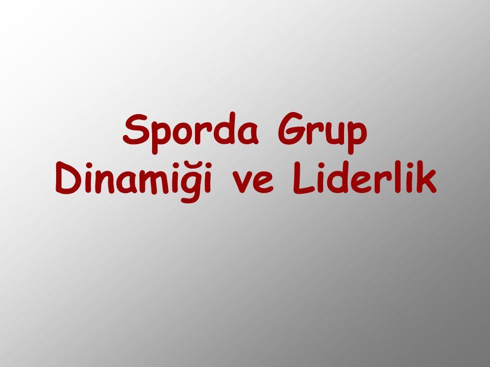 Sporda Grup Dinamiği ve Liderlik