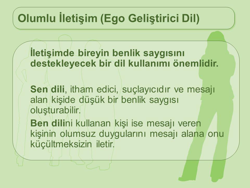 Olumlu İletişim (Ego Geliştirici Dil)
